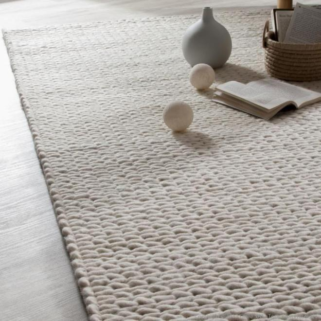 Tapis effet tricot