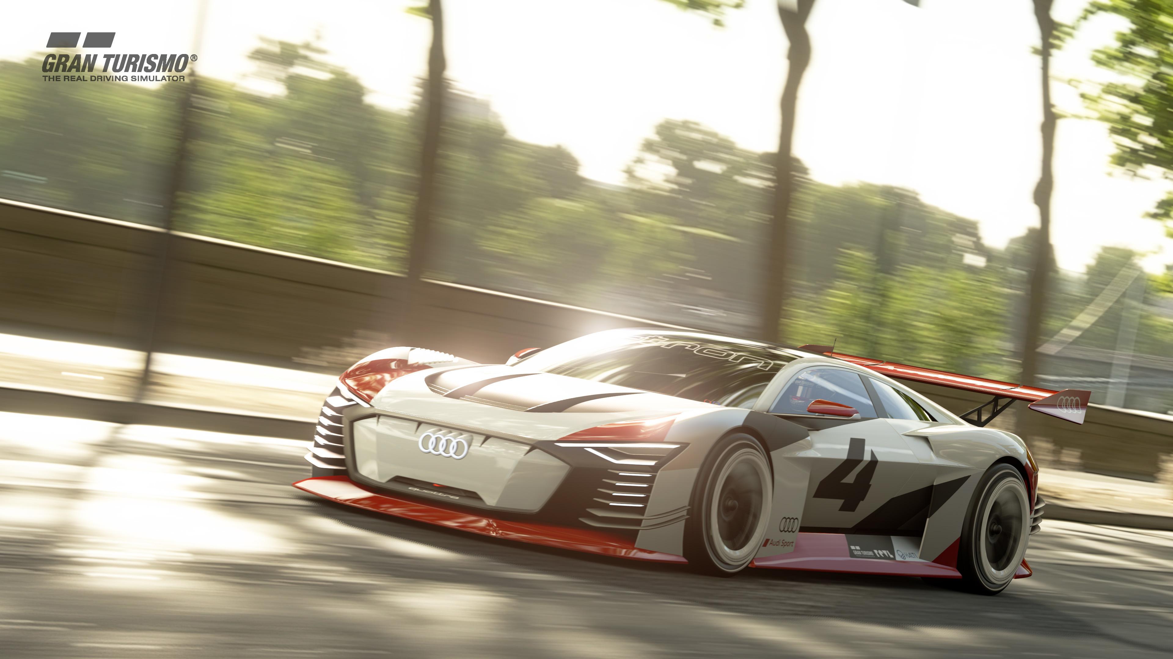 Den gibts jetzt in echt: So sah der Audi e-tron Vision Gran Turismo auf der Playstation aus. (Audi)