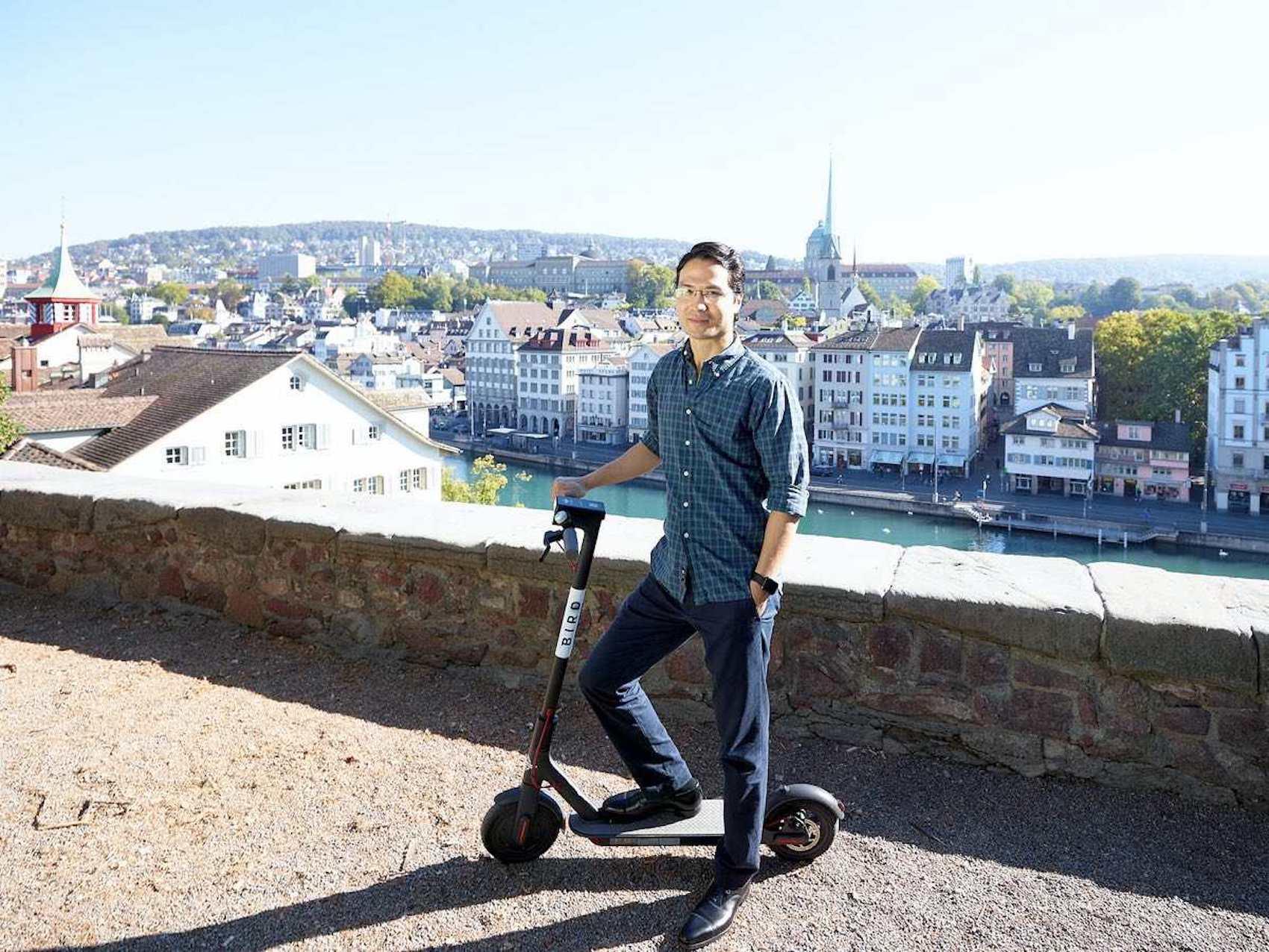 Bird-Geschäftsführer Christan Gessner in Zürich. (ZVG)
