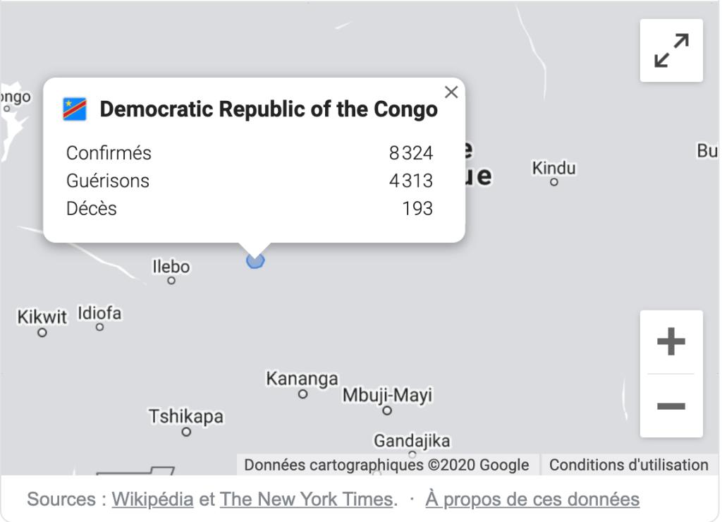 Les chiffres de Covid19 en RDC et dans le monde 2