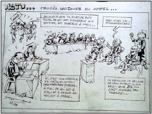 """L'actu économico-politico-judiciaire"" vu par Djeis Djemba 1"
