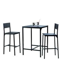 ensemble table bar 2 chaises hautes