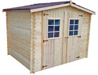 abri de jardin bois initia 28 mm 4 60 m maison et loisirs