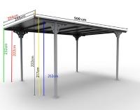carport aluminium 14 70 m maison et