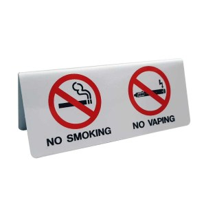 ERGO ΠΙΝΑΚΙΔΑ ΕΠΙΤΡΑΠΕΖΙΑ ΑΛΟΥΜΙΝΙΟΥ ''NO SMOKING-NO VAPING''