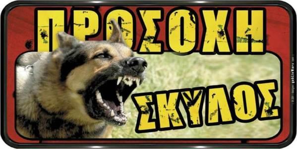 ERGO ΠΙΝΑΚΙΔΑ ΣΗΜΑΝΣΗΣ ''ΠΡΟΣΟΧΗ ΣΚΥΛΟΣ''