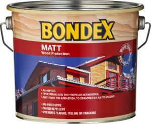BONDEX MATT WOOD PROTECTION ΒΕΡΝΙΚΙ ΕΜΠΟΤΙΣΜΟΥ ΔΙΑΦΑΝΕΣ 2.5Lt