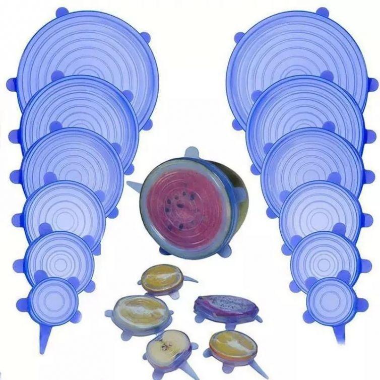 Ελαστικά Καπάκια Σιλικόνης – Silicone Stretch Lids (6τεμ.)