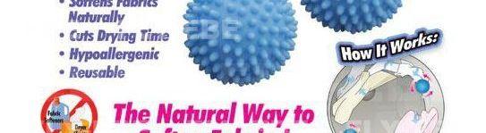 Οικολογικές Μαλακτικές Μπάλές Πλυντηρίου – Στεγνωτηρίου ECO Dryer Ball (2 τεμ.)