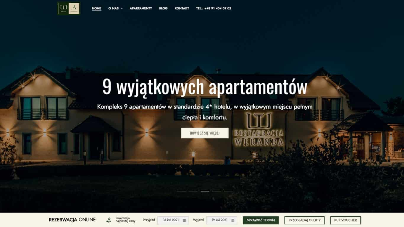 Strona hotelu