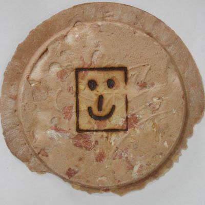 煎餅に焼印2