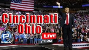 Pete Santilli LIVE – President Trump Rally In Cincinnati, Ohio