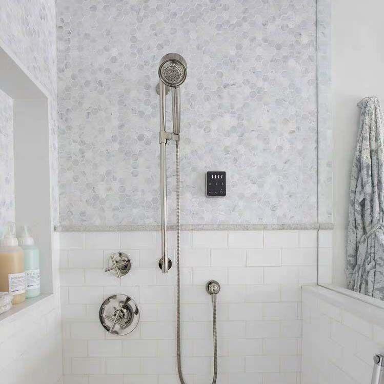 carrara white 4 hexagon marble mosaic