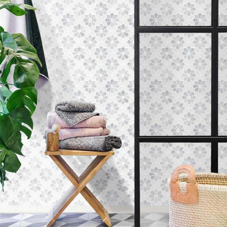 flower pattern carrara white marble stone bath wall and floor mosaic tile kitchen backsplash