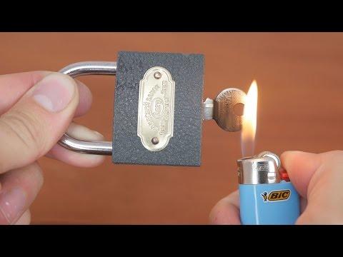 Ето как да отвориш катинар като професионален крадец (видео)