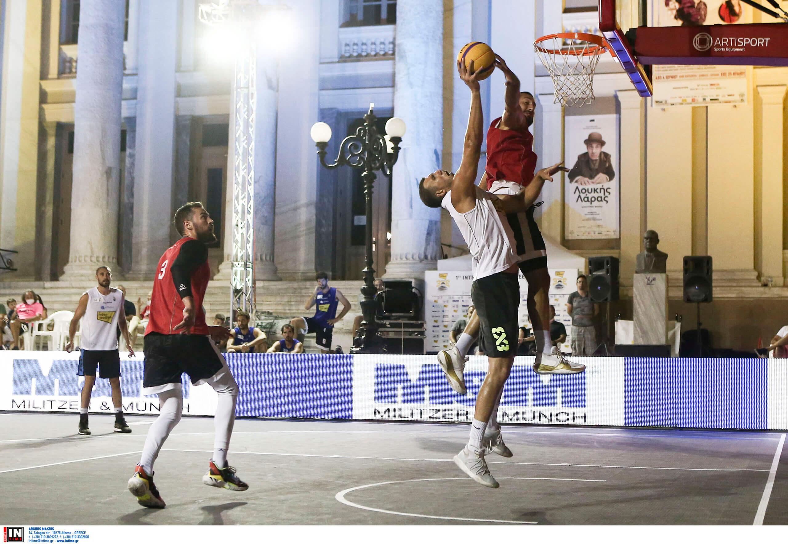 Μπασκετικό υπερθέαμα στον Πειραιά στο Τουρνουά Μπάσκετ 3Χ3 της FIBA