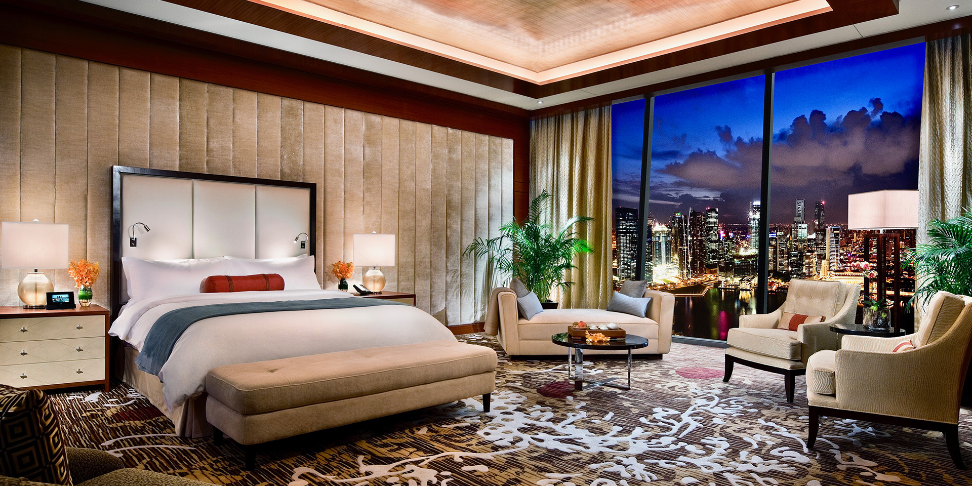 hotel room at the Marina Bay Sands Hotel in Singapore