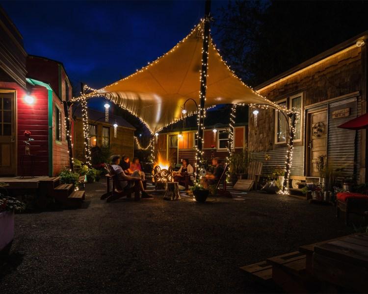 a caravan trailer park