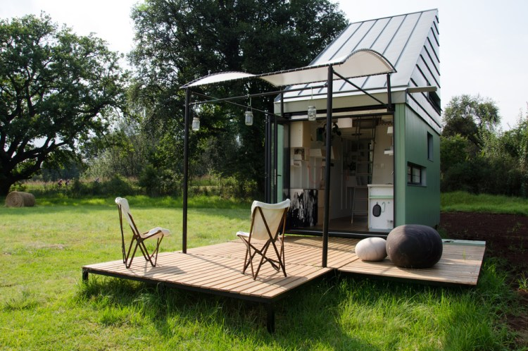 a tiny pod home in South Africa