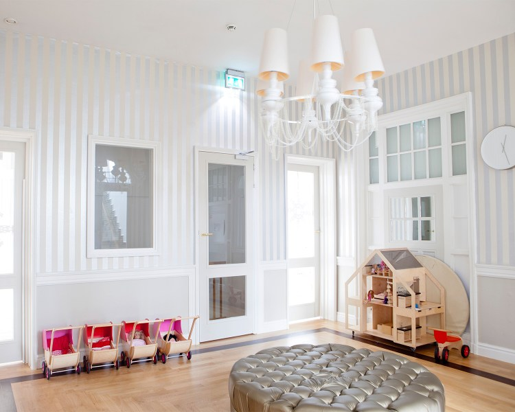 a bright playroom