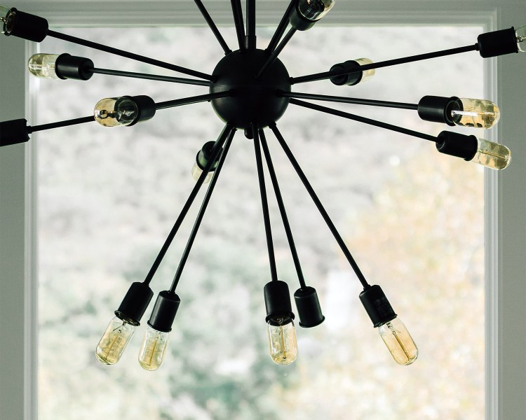 a light fixture with multiple light bulbs