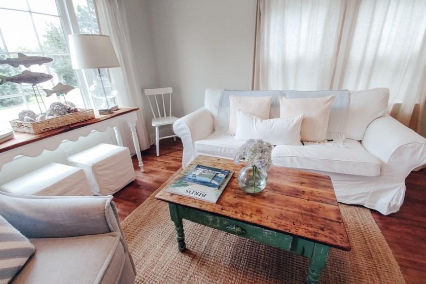 living room of a beach house