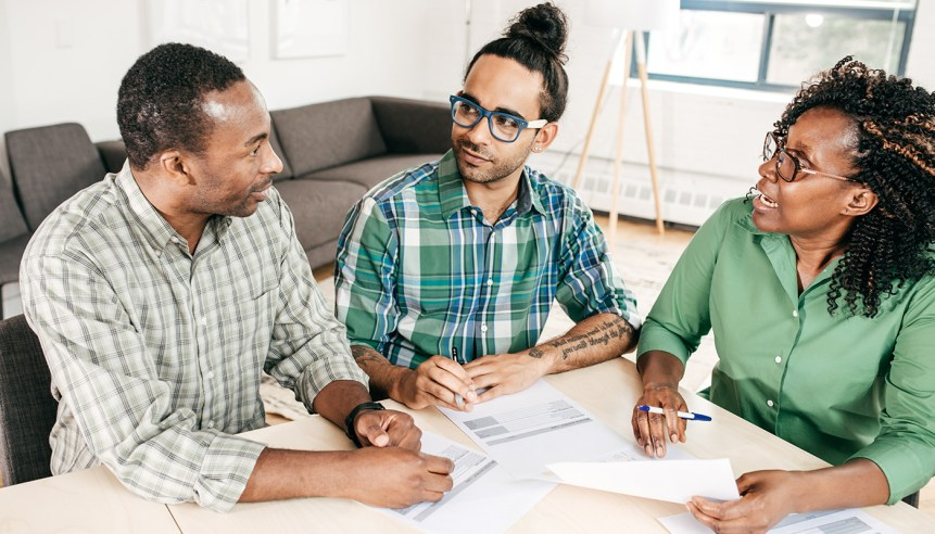 A family talks about what to do when considering to renew their mortgage.
