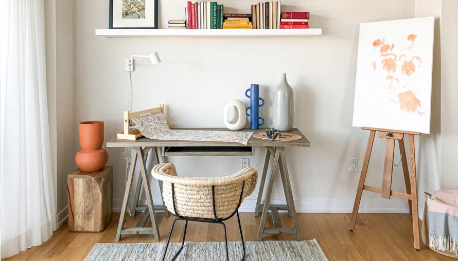 modern home office art studio