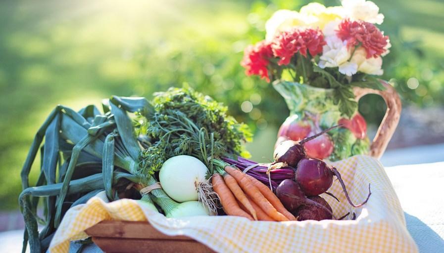 a basket full of fresh vegetables