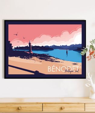 "Affiche paysage marin ""Bénodet"""
