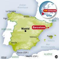 Carte Espagne Barcelone - Images et Photos