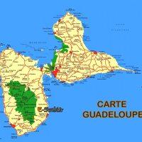 Carte de Guadeloupe - Ile Ouest et Est