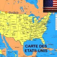 Carte Etats Unis Villes - Images
