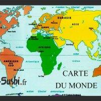 Carte du Monde - Atlas