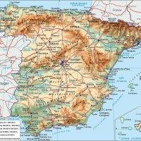 Carte Espagne - Voyages