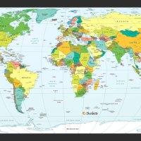 Carte Mondiale avec Pays du Monde - Image