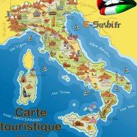 Carte Italie Touristique
