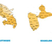 Carte Guadeloupe-Martinique