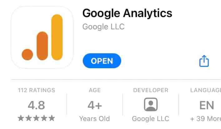 تطبيق جوجل أنالتيكس