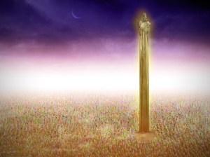 El rey hizo una imagen de oro