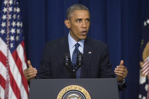 US President Barack Obama delivers remarks at the Global Health Security Agenda Summit