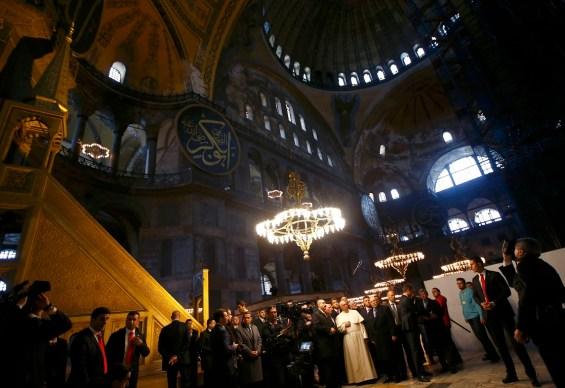 Pope Francis visits Saint Sophia Musem in Istanbul