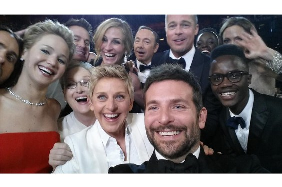 Η διάσημη selfie της Ellen DeGeneres, Hollywood, Καλιφόρνια, 2 Μαρτίου 2014