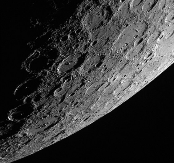 NASA handout of the planet Mercury showing the sunlit side