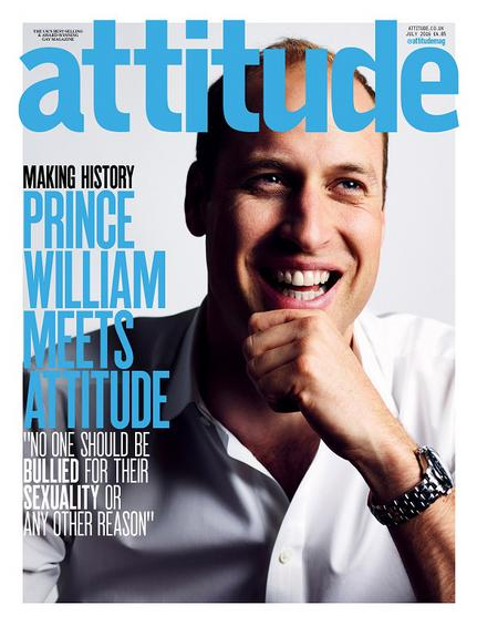 Britain's Prince William smiles on the front cover of Attitude Magazine July issue