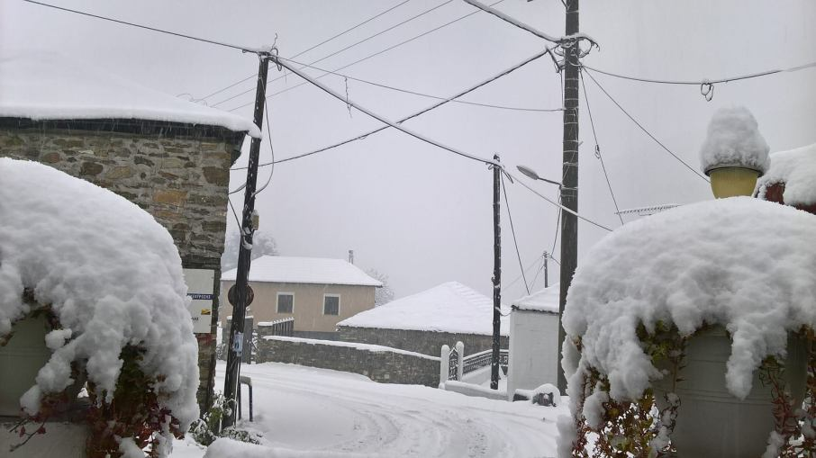 Η χιονισμένη Δράκεια. Πηγή facebook