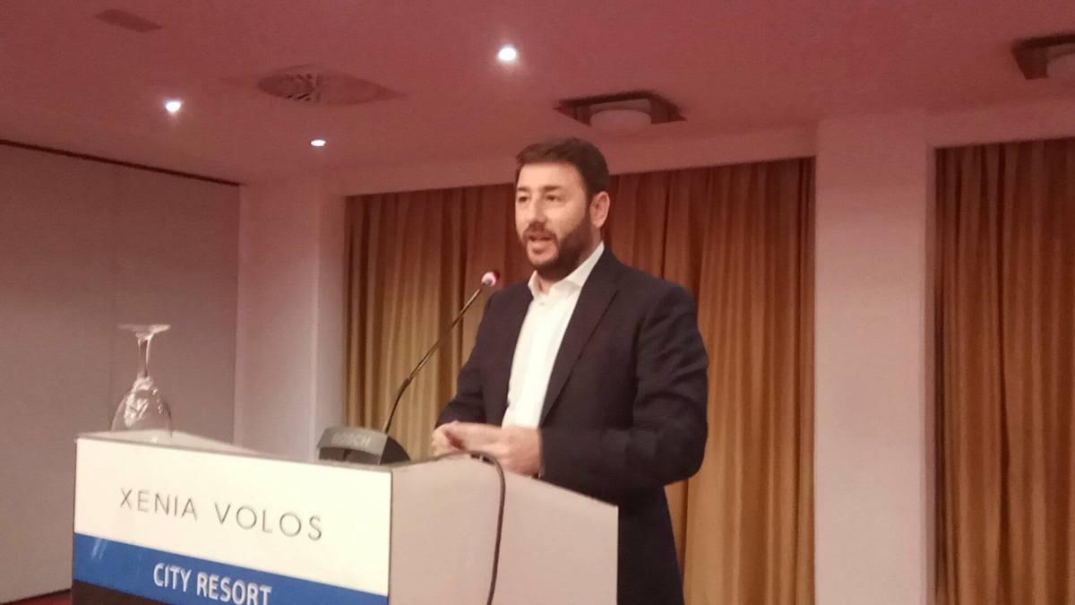 Ν. Ανδρουλάκης από το Βόλο: Δεσμεύομαι για μια Κεντροαριστερά της ισότιμης συμμετοχής και των ενιαίων αποφάσεων