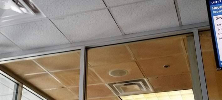 Έτσι είναι το ταβάνι σε χώρο καπνιζόντων σε αεροδρόμιο