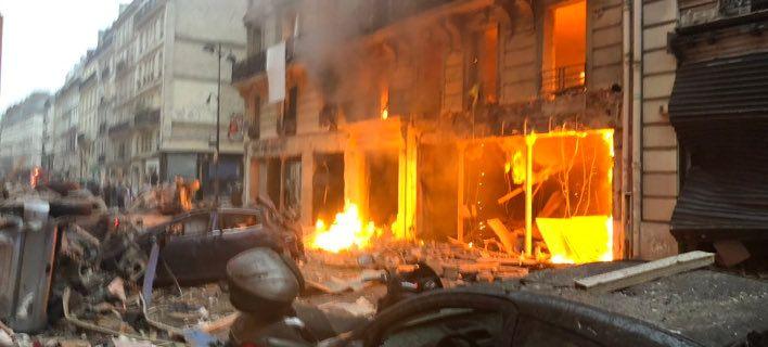 Ισχυρή έκρηξη στο κέντρο του Παρισιού (photos)