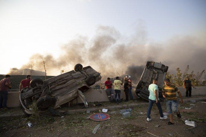 Εικόνες σοκ από τη Βηρυτό: Μια πόλη ισοπεδώθηκε μετά τη διπλή έκρηξη